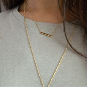 Jewelry - 24K Mini Bar Necklace